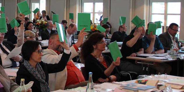 Abstimmung bei der Synode in Bayreuth