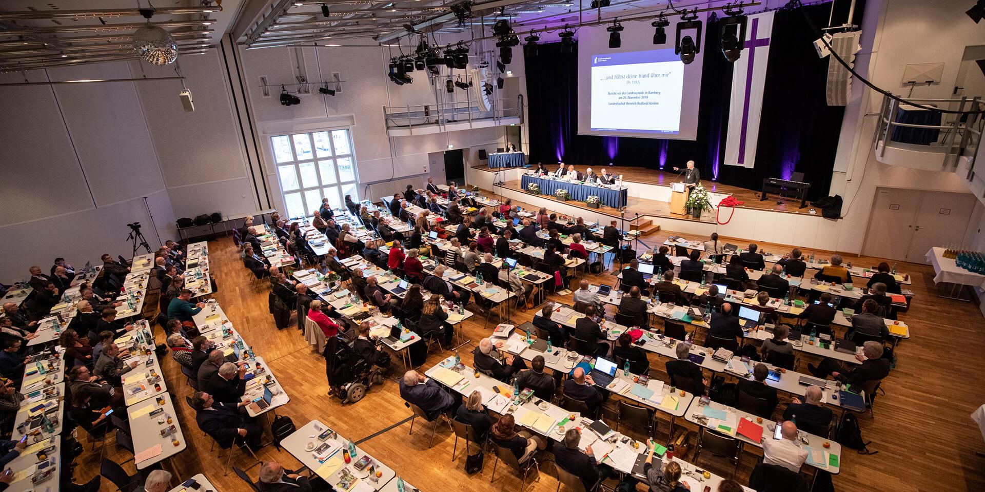 Das Plenum der Landessynode