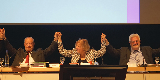 Präsidium Landessynode 2014-2020 Stiegler, Preidel, Schnell